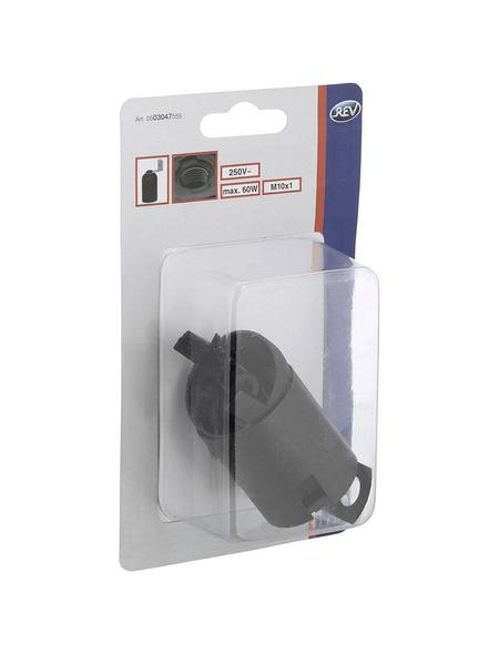 REV Fassung, Isolierstoff, E27, 250 V, schwarz