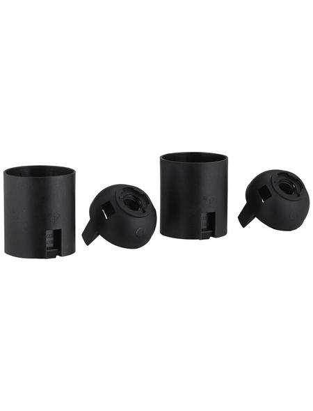 REV Fassung, Isolierstoff, E27, 250 V, schwarz, 2 Stück