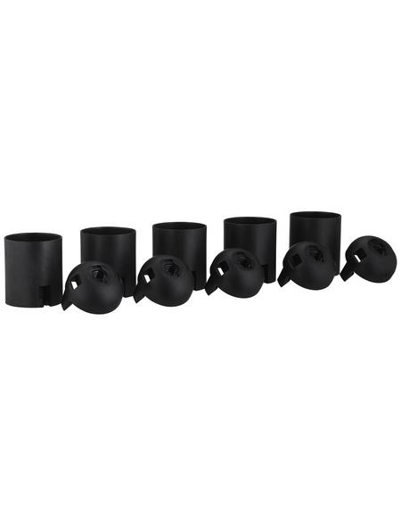REV Fassung, Isolierstoff, E27, schwarz, 5 Stück