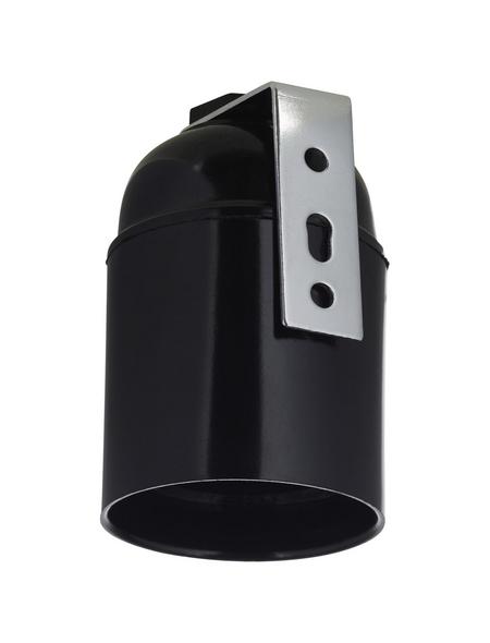 KOPP Fassung, Kunststoff, E14, schwarz, 2 Stück
