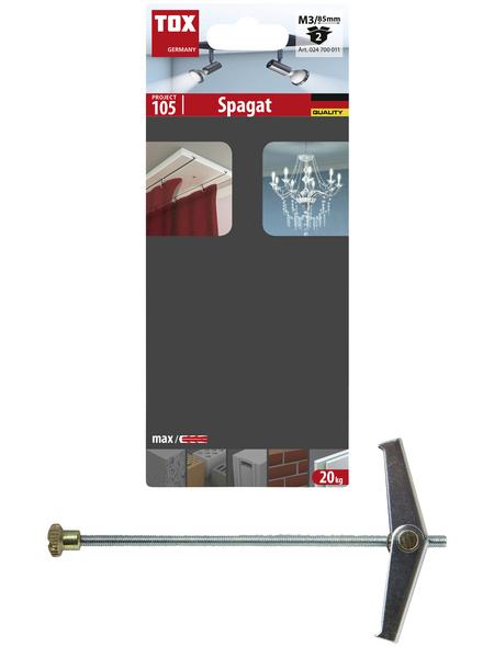 TOX Federklappdübel, Stahl   verzinkt, 2 Stück, 12 x 85 mm
