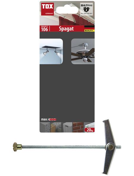 TOX Federklappdübel, Stahl | verzinkt, 2 Stück, 14 x 90 mm
