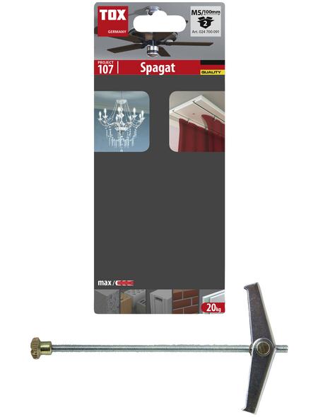 TOX Federklappdübel, Stahl   verzinkt, 2 Stück, 18 x 100 mm