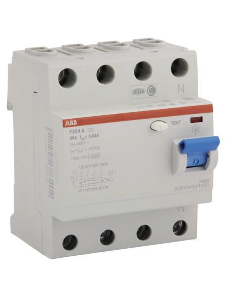 ABB Fehlerstromschutzschalter, F200, 4-polig 25/0,03 A, 25 A