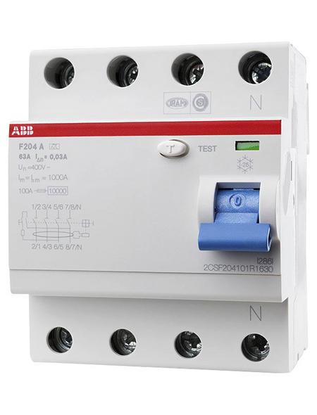 ABB Fehlerstromschutzschalter, F200, 4-polig 63/0,03 A, 63 A