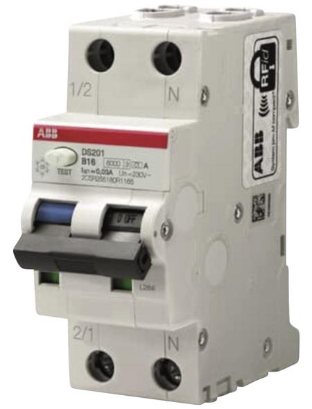 ABB Fehlerstromschutzschalter, Nennstrom: 16 A, Kunststoff, grau
