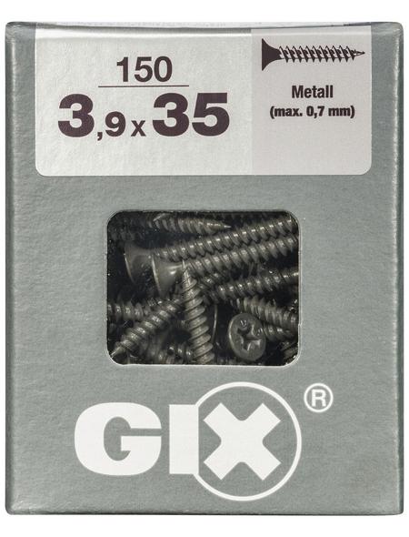 SPAX Feingewindeschraube, 3,9 mm, Stahl, 150 Stk., GIX A 3,9x35 L
