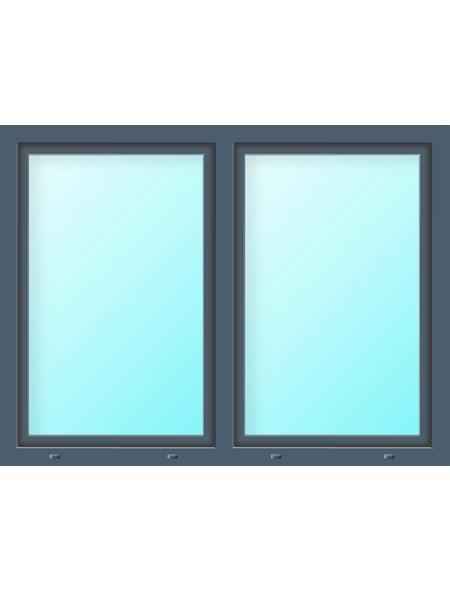 Meeth Fenster »77/3 MD«, Gesamtbreite x Gesamthöhe: 115 x 115 cm, Glassstärke: 33 mm, weiß/titan