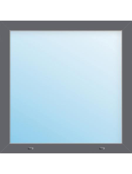 Meeth Fenster »77/3 MD«, Gesamtbreite x Gesamthöhe: 115 x 40 cm, Glassstärke: 33 mm, weiß/titan