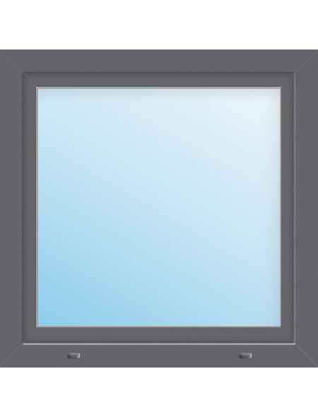 Meeth Fenster »77/3 MD«, Gesamtbreite x Gesamthöhe: 120 x 125 cm, Glassstärke: 33 mm, weiß/titan