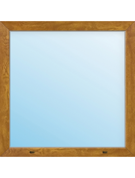 Meeth Fenster »77/3 MD«, Gesamtbreite x Gesamthöhe: 120 x 45 cm, Glassstärke: 33 mm, weiß/golden oak