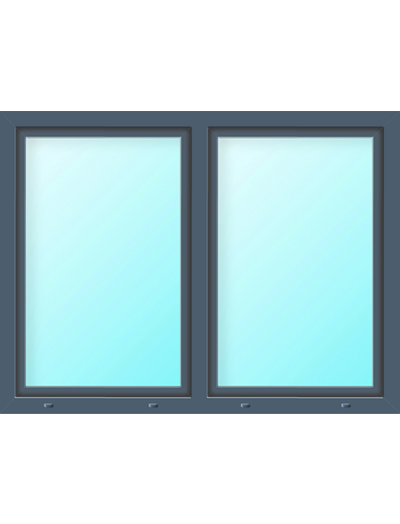 Meeth Fenster »77/3 MD«, Gesamtbreite x Gesamthöhe: 125 x 115 cm, Glassstärke: 33 mm, weiß/titan