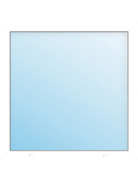 Meeth Fenster »77/3 MD«, Gesamtbreite x Gesamthöhe: 130 x 120 cm, Glassstärke: 33 mm, weiß