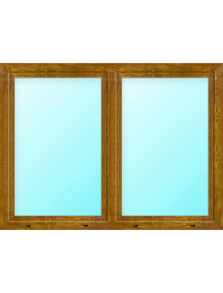 Meeth Fenster »77/3 MD«, Gesamtbreite x Gesamthöhe: 130 x 120 cm, Glassstärke: 33 mm, weiß/golden oak