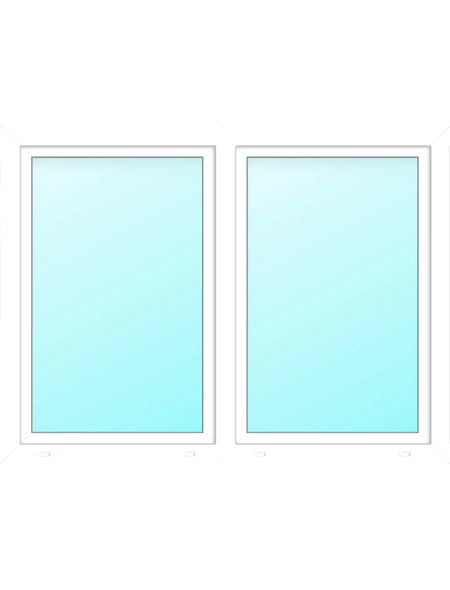 Meeth Fenster »77/3 MD«, Gesamtbreite x Gesamthöhe: 130 x 155 cm, Glassstärke: 33 mm, weiß