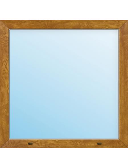 Meeth Fenster »77/3 MD«, Gesamtbreite x Gesamthöhe: 130 x 40 cm, Glassstärke: 33 mm, weiß/golden oak