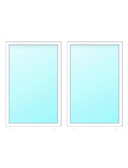 Meeth Fenster »77/3 MD«, Gesamtbreite x Gesamthöhe: 130 x 50 cm, Glassstärke: 33 mm, weiß