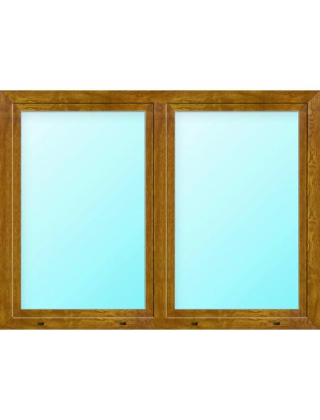 Meeth Fenster »77/3 MD«, Gesamtbreite x Gesamthöhe: 130 x 50 cm, Glassstärke: 33 mm, weiß/golden oak