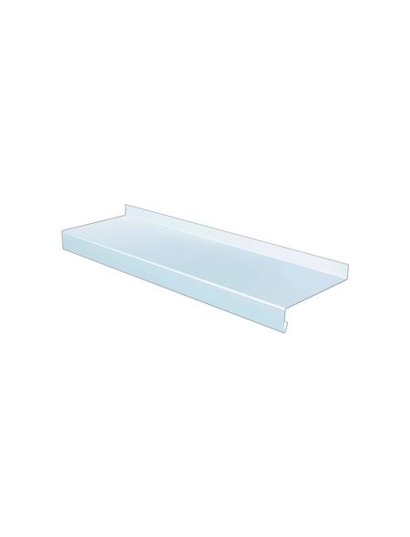 SAREI Fensterblech, 3000 x 130 x 65 mm, Weiß, Aluminium