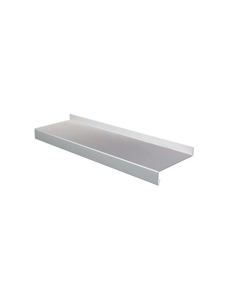 SAREI Fensterblech, 3000 x 70 x 65 mm, Silber, Aluminium