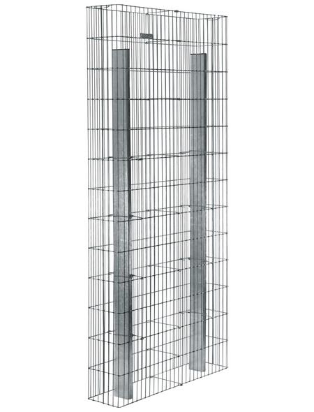 BELLISSA Fertiggabione »Pronto«, BxHxL: 23,5 x 195 x 102,5 cm, Stahl
