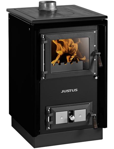 JUSTUS Festbrennstoffherd »Rustico-50 2.0«, 7 kW, mit Sichtscheibe