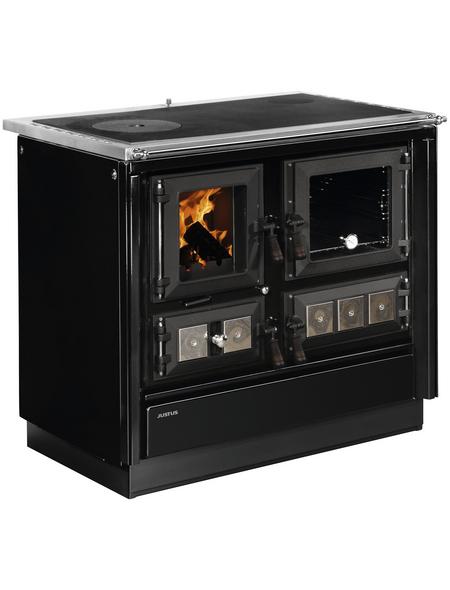 JUSTUS Festbrennstoffherd »Rustico-90 2.0«, 7 kW, mit Sichtscheibe
