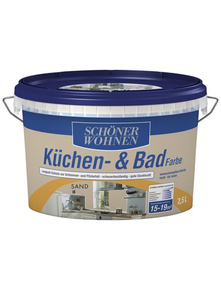 SCHÖNER WOHNEN FARBE Feuchtraumfarbe »Küchen- und Badfarbe«, sandfarben, 2,5 l