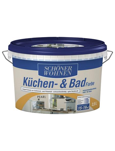 SCHÖNER WOHNEN FARBE Feuchtraumfarbe »Küchen- und Badfarbe«, weiß, 1 l