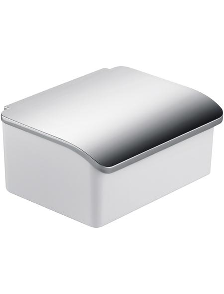KEUCO Feuchttücherbox, Metall/Porzellan, glänzend, chromfarben/weiß