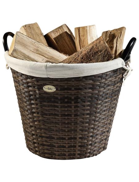 HABAU Feuerholzkorb, Braun   Beige, Rund, Durchmesser: 54 cm