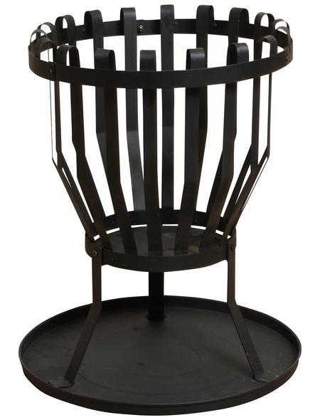 BUSCHBECK Feuerkorb »Alberta«, Ø 43 cm, Höhe: 51  cm, schwarz, pulverbeschichtet