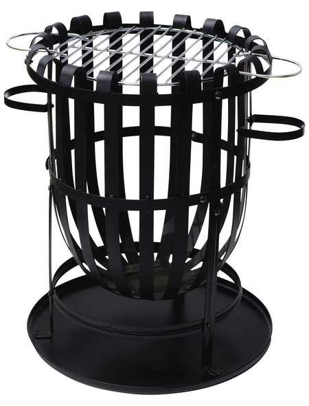 BUSCHBECK Feuerkorb »Barcelona«, Ø 40 cm, Höhe: 56  cm, schwarz, verchromt/pulverbeschichtet