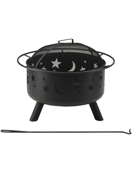 LANDMANN Feuerkorb, Ø 75 cm, Höhe: 65  cm, schwarz