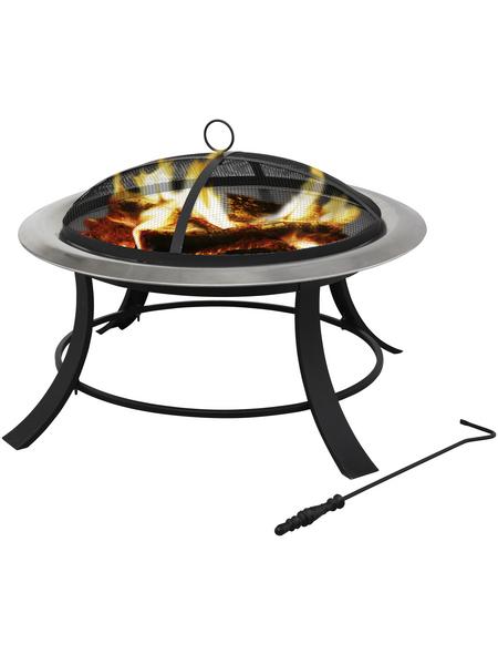 TEPRO Feuerstelle, Höhe: 50 cm, schwarz/edelstahlfarben