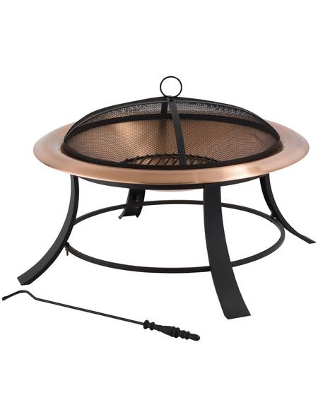 TEPRO Feuerstelle, Höhe: 50  cm, schwarz/kupferfarben