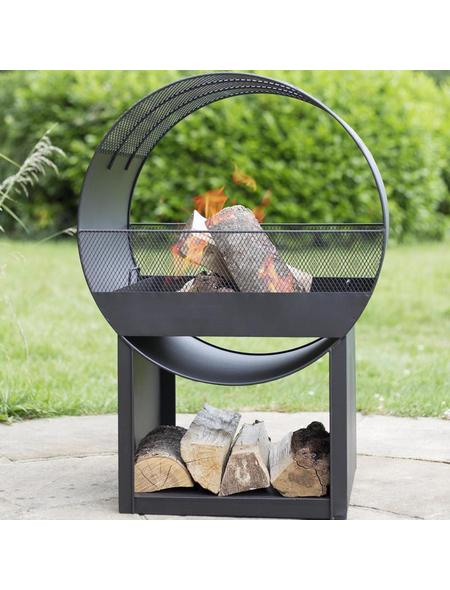 BUSCHBECK Feuerstelle »Porthole«, Höhe: 80  cm, schwarz, pulverbeschichtet