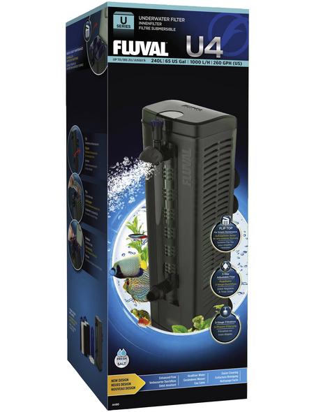 FLUVAL Filter »U-Serie«, 1 W, für Aquarien bis: 240 l, schwarz