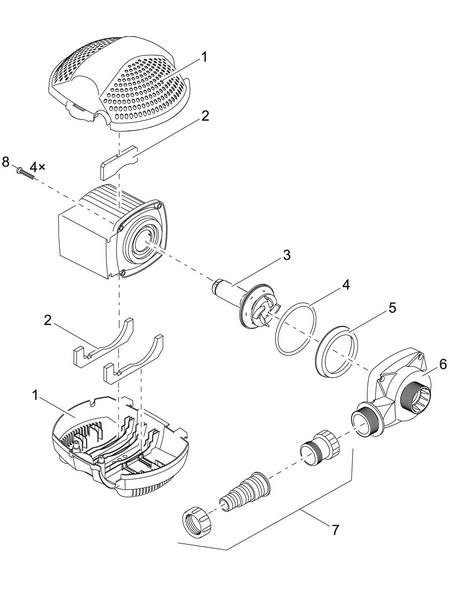 PONTEC Filter- und Bachlaufpumpe »PondoMax «, 95 W, Fördermenge: 10000 l/h