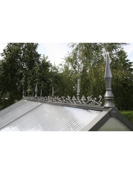KGT Firstverzierung für Gewächshäuser, BxLxH: 10 x 200 x 30 cm, Aluminium