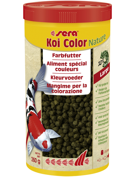 sera Fisch-Farbfutter »Koi Color Nature Large«, Pond, 1000 ml (260g)