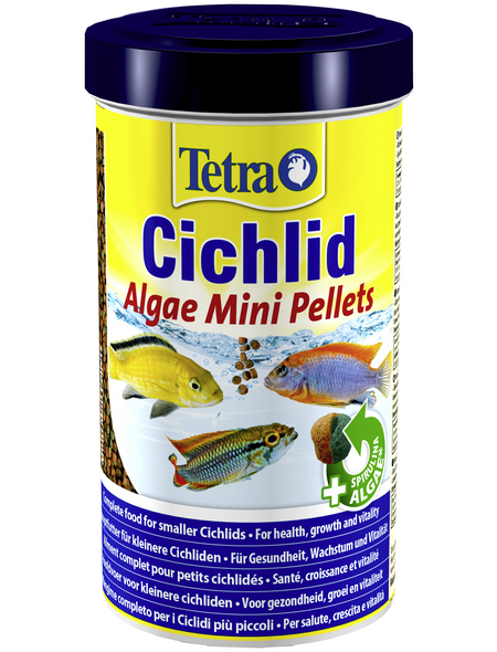 TETRA Fischfutter »Cichlid Algae Mini«, 1 Dose à 500 ml