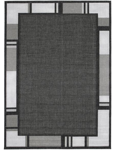 ANDIAMO Flachgewebe-Teppich »Louisiana«, BxL: 120 x 170 cm, anthrazit/silberfarben