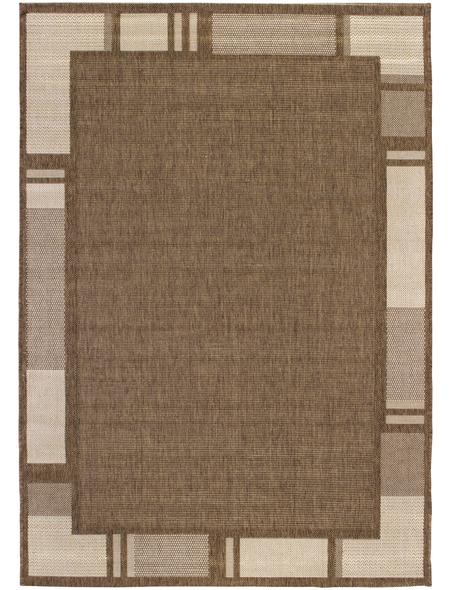 ANDIAMO Flachgewebe-Teppich »Louisiana«, BxL: 120 x 170 cm, braunbeige