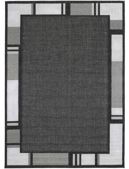 ANDIAMO Flachgewebe-Teppich »Louisiana«, BxL: 160 x 230 cm, anthrazit/silberfarben