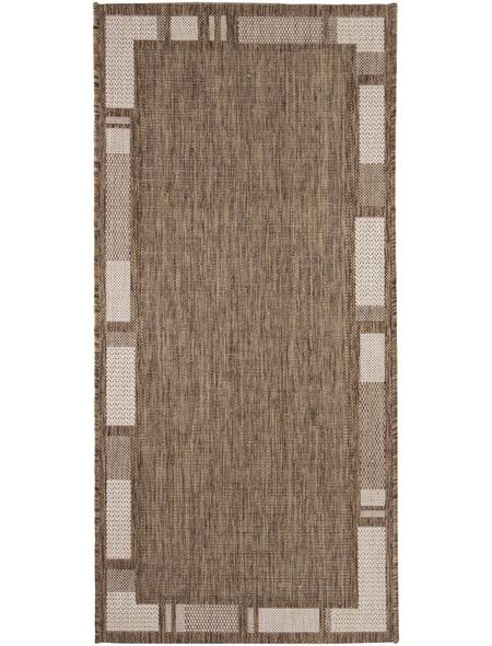 ANDIAMO Flachgewebe-Teppich »Louisiana«, BxL: 160 x 230 cm, braunbeige