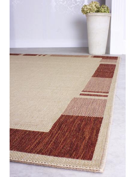 ANDIAMO Flachgewebe-Teppich »Louisiana«, BxL: 160 x 230 cm, terrakottafarben/beige