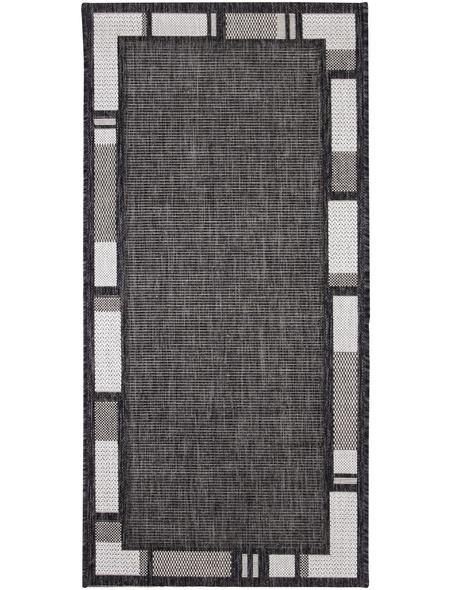 ANDIAMO Flachgewebe-Teppich »Louisiana«, BxL: 60 x 110 cm, silberfarben/anthrazit
