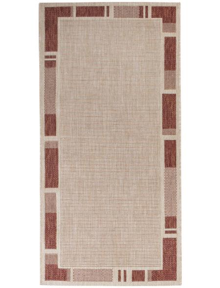 ANDIAMO Flachgewebe-Teppich »Louisiana«, BxL: 67 x 140 cm, terrakottafarben/beige