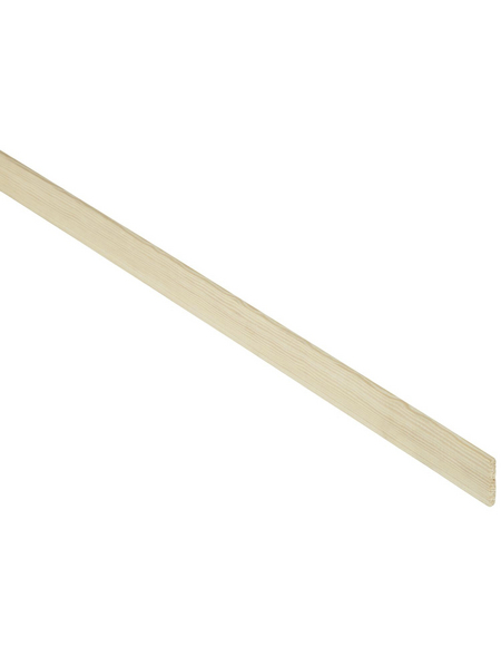 FN NEUHOFER HOLZ Flachleiste, Kiefernholz natur, LxHxT: 240 x 2,9 x 0,5 cm